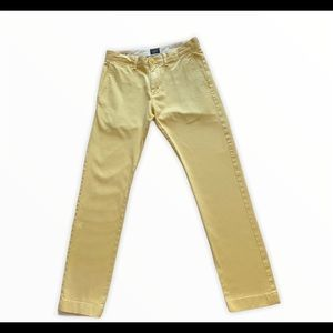 J.Crew Men's Yellow 484 Slim Fit Chinos Sz 28/30